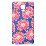 Pink Daisy Pattern Galaxy Note 4 Back Case Front