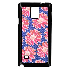 Pink Daisy Pattern Samsung Galaxy Note 4 Case (black) by DanaeStudio