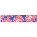 Pink Daisy Pattern Flano Scarf (Small)
