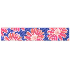 Pink Daisy Pattern Flano Scarf (large)