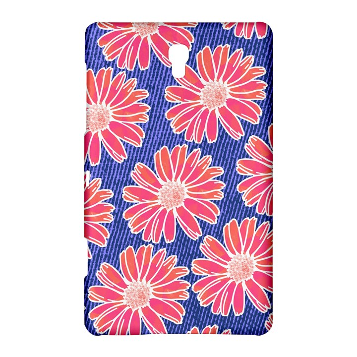 Pink Daisy Pattern Samsung Galaxy Tab S (8.4 ) Hardshell Case