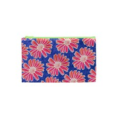 Pink Daisy Pattern Cosmetic Bag (xs)