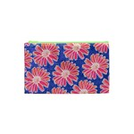 Pink Daisy Pattern Cosmetic Bag (XS) Front