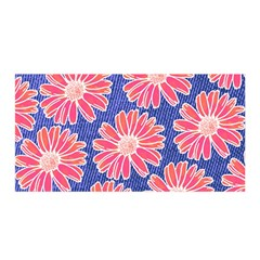 Pink Daisy Pattern Satin Wrap by DanaeStudio