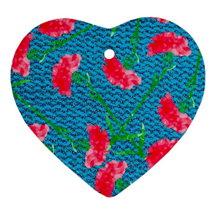 Carnations Ornament (Heart)