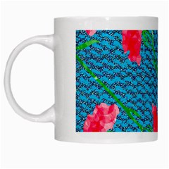 Carnations White Mugs