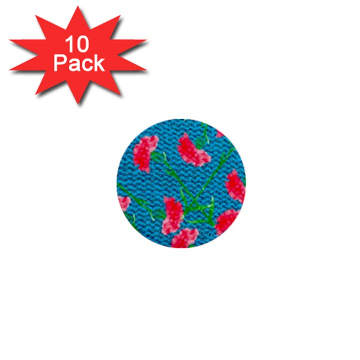 Carnations 1  Mini Buttons (10 pack)