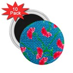 Carnations 2.25  Magnets (10 pack)  Front