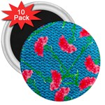 Carnations 3  Magnets (10 pack)  Front