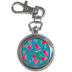 Carnations Key Chain Watches
