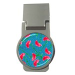 Carnations Money Clips (Round)  Front
