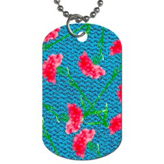 Carnations Dog Tag (two Sides) by DanaeStudio