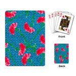 Carnations Playing Card Back