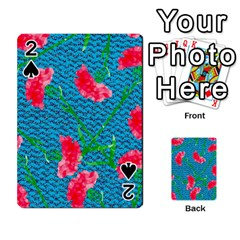 Carnations Playing Cards 54 Designs