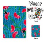 Carnations Playing Cards 54 Designs  Front - Spade4