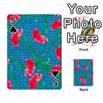 Carnations Playing Cards 54 Designs  Front - Spade5