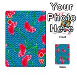 Carnations Playing Cards 54 Designs  Front - DiamondA