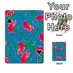 Carnations Playing Cards 54 Designs  Front - Spade8