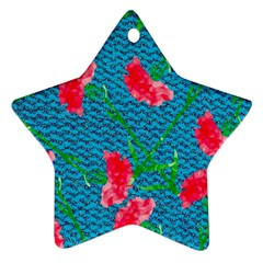 Carnations Star Ornament (two Sides)