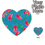 Carnations Playing Cards 54 (Heart)  Front - Diamond9