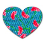 Carnations Heart Mousepads Front