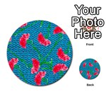 Carnations Multi-purpose Cards (Round)  Back 1
