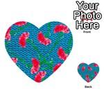 Carnations Multi-purpose Cards (Heart)  Back 54