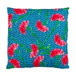 Carnations Standard Cushion Case (Two Sides) Back