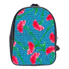 Carnations School Bags(large)  by DanaeStudio