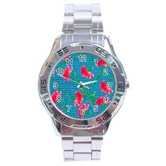 Carnations Stainless Steel Analogue Watch by DanaeStudio
