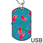 Carnations Dog Tag USB Flash (One Side) Front