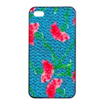 Carnations Apple iPhone 4/4s Seamless Case (Black) Front