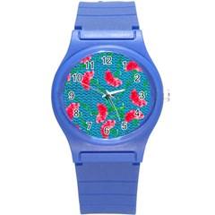 Carnations Round Plastic Sport Watch (s)