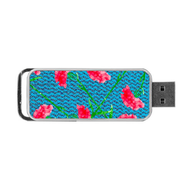 Carnations Portable USB Flash (One Side)