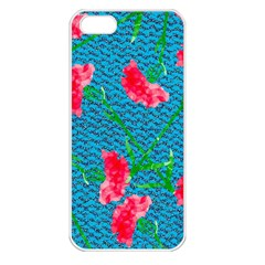 Carnations Apple Iphone 5 Seamless Case (white)