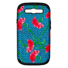 Carnations Samsung Galaxy S Iii Hardshell Case (pc+silicone) by DanaeStudio