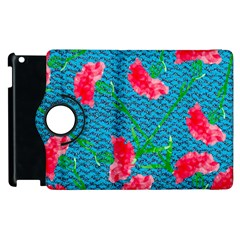 Carnations Apple Ipad 2 Flip 360 Case