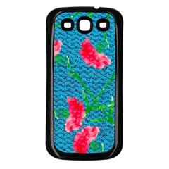 Carnations Samsung Galaxy S3 Back Case (black) by DanaeStudio