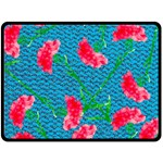 Carnations Double Sided Fleece Blanket (Large)  80 x60 Blanket Front