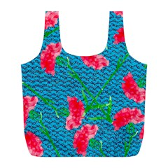 Carnations Full Print Recycle Bags (l)  by DanaeStudio