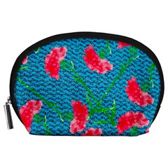 Carnations Accessory Pouches (large)