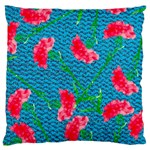 Carnations Standard Flano Cushion Case (One Side) Front