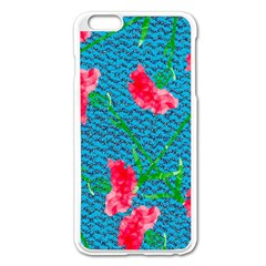 Carnations Apple Iphone 6 Plus/6s Plus Enamel White Case