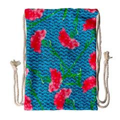 Carnations Drawstring Bag (large)