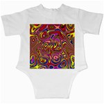 Abstract Shimmering Multicolor Swirly Infant Creepers Back