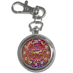 Abstract Shimmering Multicolor Swirly Key Chain Watches