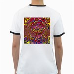 Abstract Shimmering Multicolor Swirly Ringer T-Shirts Back