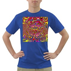 Abstract Shimmering Multicolor Swirly Dark T Shirt by designworld65