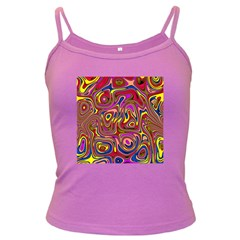 Abstract Shimmering Multicolor Swirly Dark Spaghetti Tank