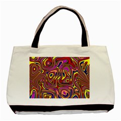 Abstract Shimmering Multicolor Swirly Basic Tote Bag